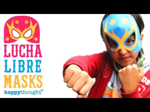 How to make a Lucha Libre mask - tutorial + printable paper template!