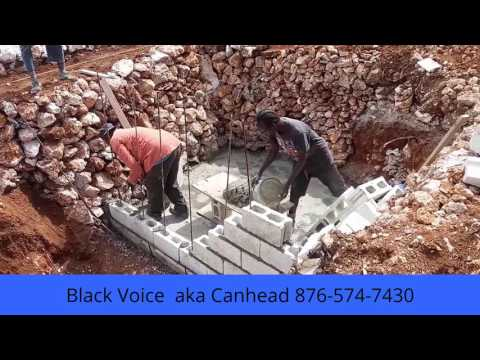 Building a House in Jamaica - Septic Tank Walls