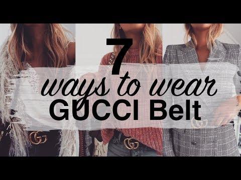 7 WAYS TO WEAR THE GUCCI BELT | LOOKBOOK & TRY ON | SINEAD CROWE