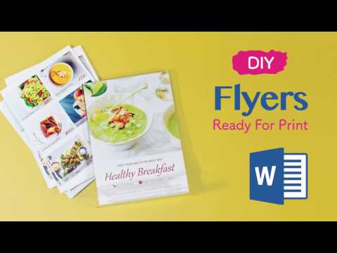 How to Design Flyers -- Professional & Print Ready Artwork Files Made With Microsoft Word