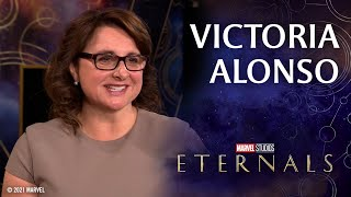 Victoria Alonso on the Heart of Marvel Studios' Eternals   Red Carpet Live