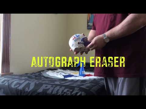 HOW TO REMOVE AUTOGRAPH FROM HELMET - SHARPIE AUTOGRAPH ERASER