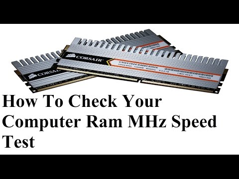 Ram-How To Check Your Computer Ram MHz Speed Test