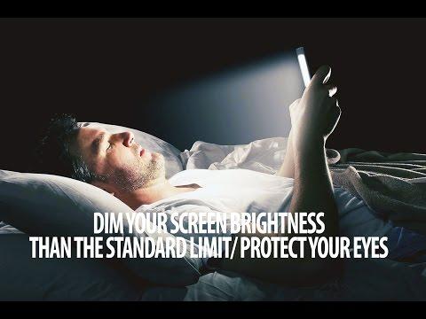 iPhone Night Vision to Avoid EYESIGHT Problem