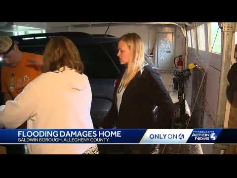 Flash flooding sends 40 inches of water into Baldwin Borough woman's home
