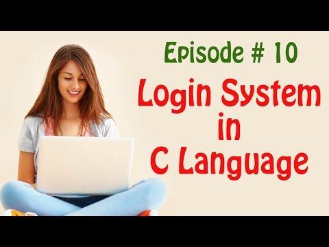 Episode #10   Login System in C language (String Comparison)