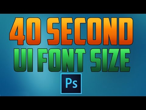 Photoshop CC : How to Increase UI Font Size