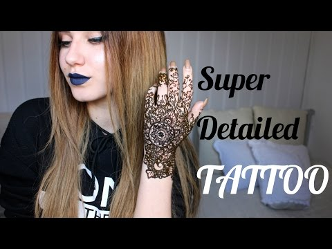 Drawing a Super Detailed Henna Tattoo | Stella