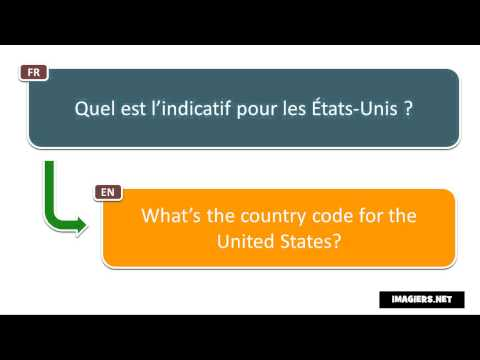 Say it in French = What's the country code for the United States