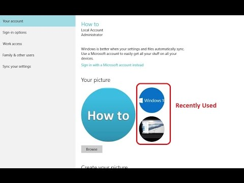 How to Remove Recent Account Pictures in Windows 10 - Howtosolveit