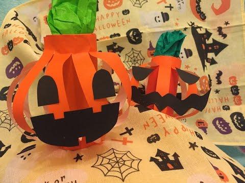DIY HALLOWEEN Pumpkin Paper Roll Decor ハロウィンかぽちゃ萬聖節南瓜手作 Craft