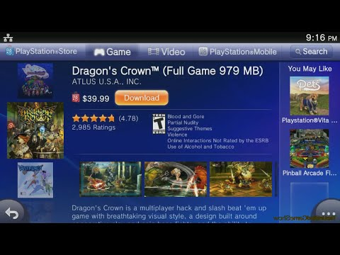 PS Vita Games Compatible with PlayStation TV supported games HD HDMI  (PS Vita TV)