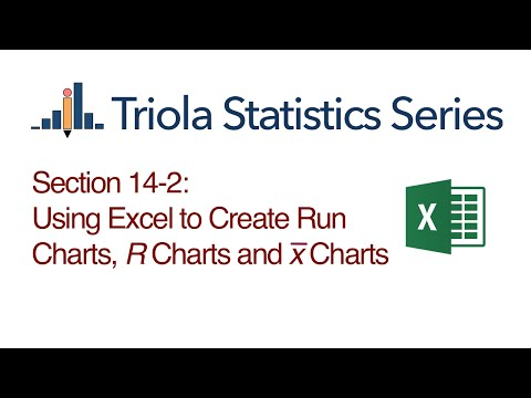 Excel Section 14-2: Using Excel to Create Run Charts, R Charts and x-bar Charts
