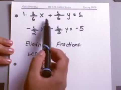 8.2.3 Systems of Linear Equations: Solve Systems with Fractions