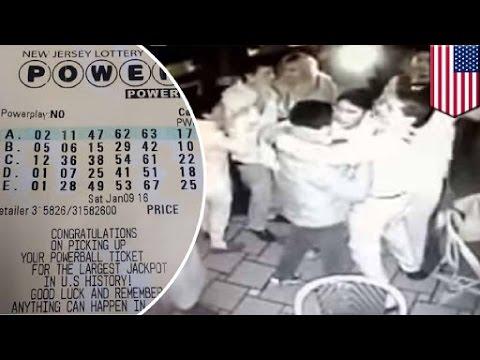 Powerball Fail Nj Restaurant Staff Celebrates After Reading Winning L