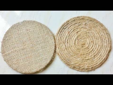 How To Create Easy Rope Coasters - DIY Home Tutorial - Guidecentral