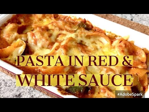 Pasta in Red & White sauce - Mix sauce Pasta