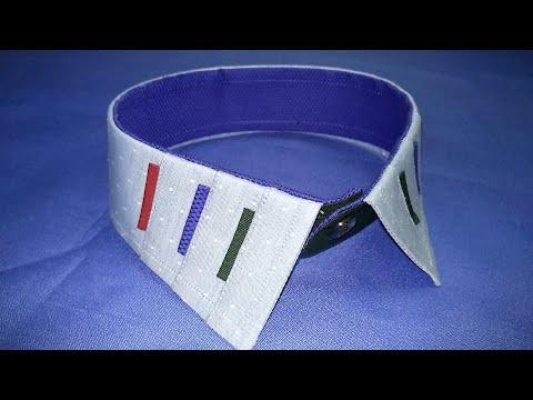 Shirt collar design diy