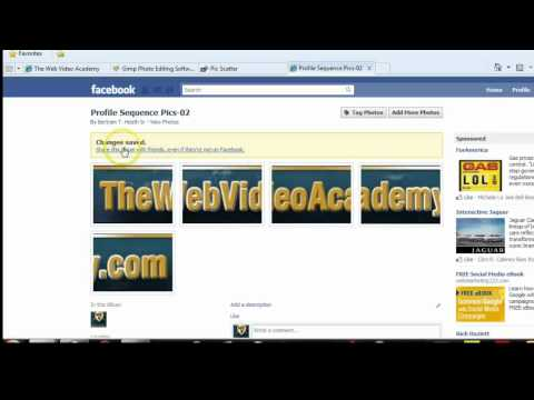 How To Add Sequential Thumbnail Images To Your Facebook Profile - Part 2
