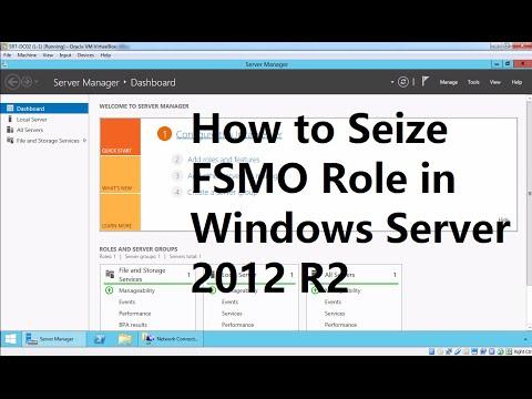 29. How to Seize FSMO Role - Windows Server 2012 R2