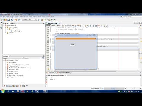 How To Time jProgressBar in Java