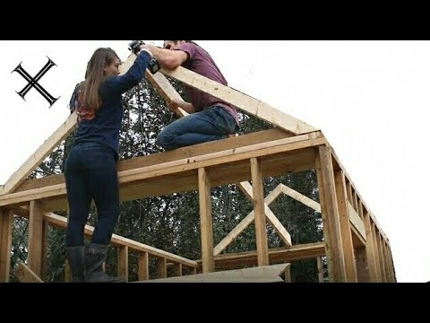 Building a Shed on a budget! (part 4 framing the roof)