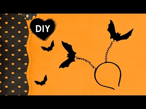 DIY - headband for Halloween. Bat on your head - a cheap and simple tutorial
