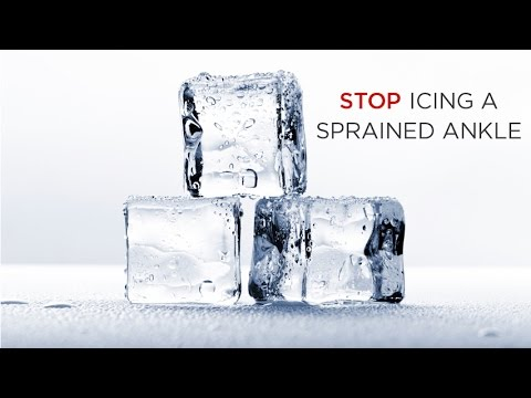 Do Not Ice a Sprained Ankle : Here's why...