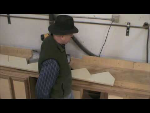 Cutting a stair stringer on a chopsaw