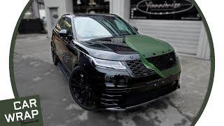 Range Rover Velar wrapped Matte Military Green