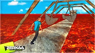 IMPOSSIBLE DEATH PARKOUR GAME! (Clumsy Fred)