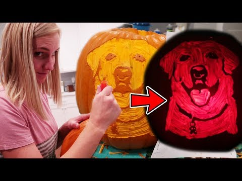 How To Carve The BEST HALLOWEEN PUMPKIN! (SUPER REALISTIC!)