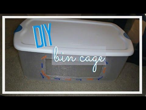 DIY Bin Cage for hamsters │Alexandriasanimals
