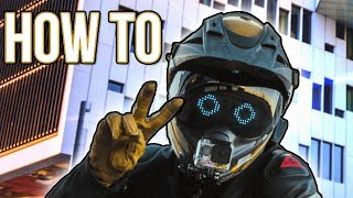 """""""Wrench"""" LED Motorcycle Helmet 