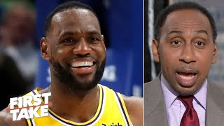 LeBron is showing Kawhi he's back and deserves to be MVP so far - Stephen A. | First Take