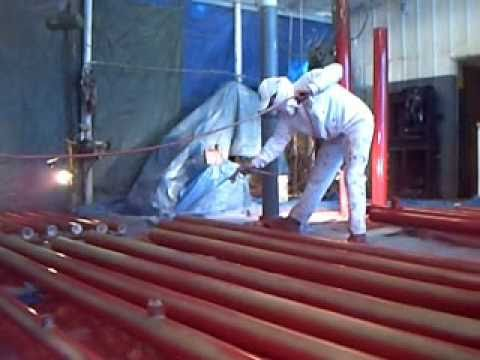 Painting Industrial Fire Sprinkler Pipe, Paint Contractor Tampa
