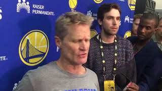 Steve Kerr on Draymond's boxing out and winning the Rudy T award