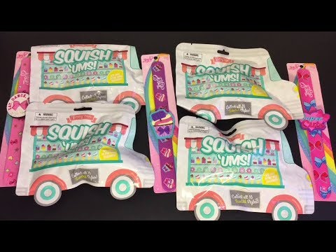 Squish Ums Blind Bag Squishies Yummy Series JoJo Siwa Slap Bands Toy Unboxing & Review