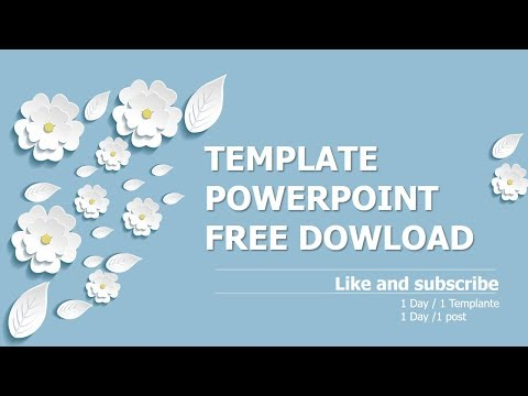 Three Dimensional Flowers | Template powerpoint free download