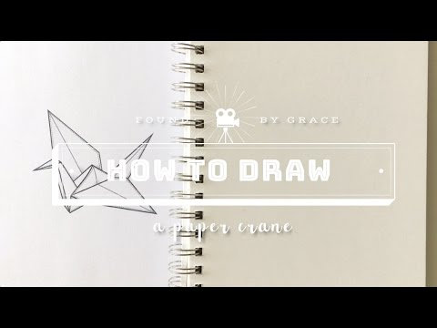 How To Draw: A Paper Crane | Talk Through Tutorial