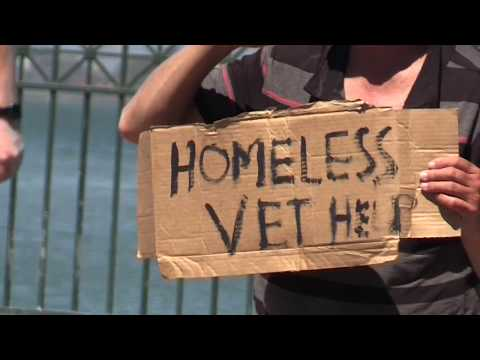 Homeless Vets by the Embarcadero  - Veterans Day  5 28 2018