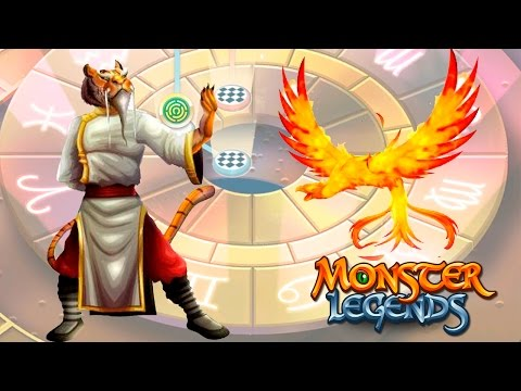 Master Fong и Fenix Zodiac Maze Island Monster Legends