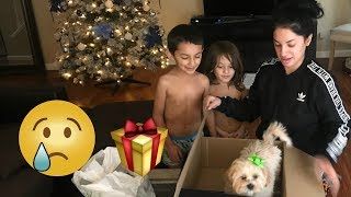 PRANK telling my nephews we are gifting our dog for XMAS  (GETS EMOTIONAL)