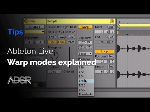 Ableton Live warp modes explained