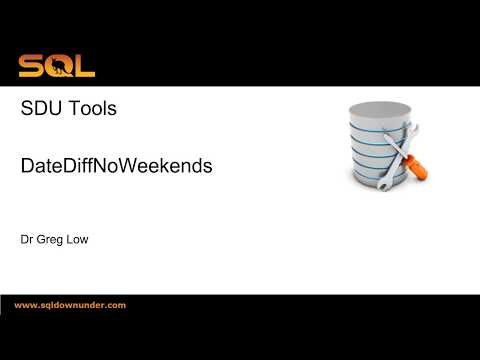 SDU Tools 62 Date Difference Excluding Weekends in SQL Server T-SQL