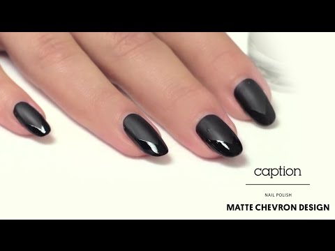 Caption Nail Polish - Matte Chevron Design