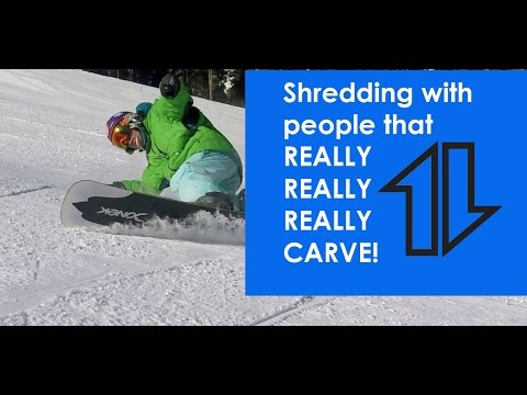 Snowboarding with guys that REALLY CARVE
