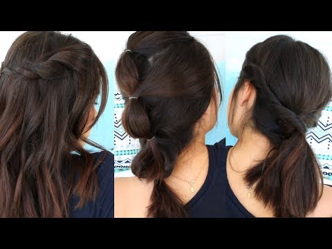 EXTRA EASY No Heat Hairstyles For Short Hair   Back To School 2017