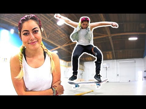 PRO SNOWBOARDER LEARNS HOW TO OLLIE WHILE MOVING!
