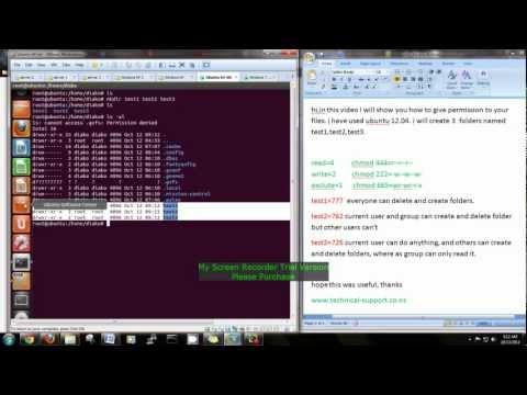 file permission on Ubuntu (LINUX)